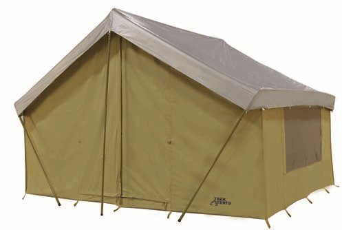 Trek tents 245c cavas cabin 9 39 x 12 39 heavy duty cotton for Canvas wall tent reviews